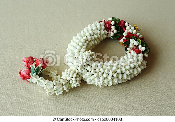Thai garland colorful flower - csp20604103