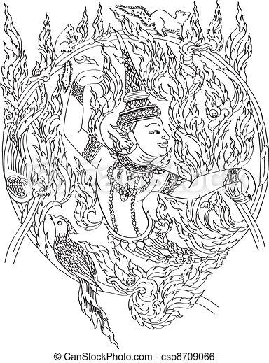 Thai graphic - csp8709066