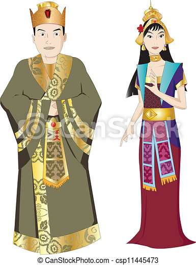 Thai King and Queen - csp11445473