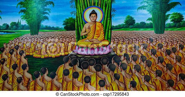 Thai mural painting  - csp17295843