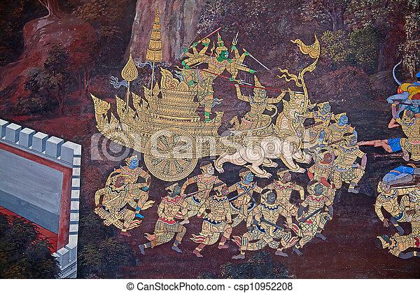 Thai Mural painting - csp10952208