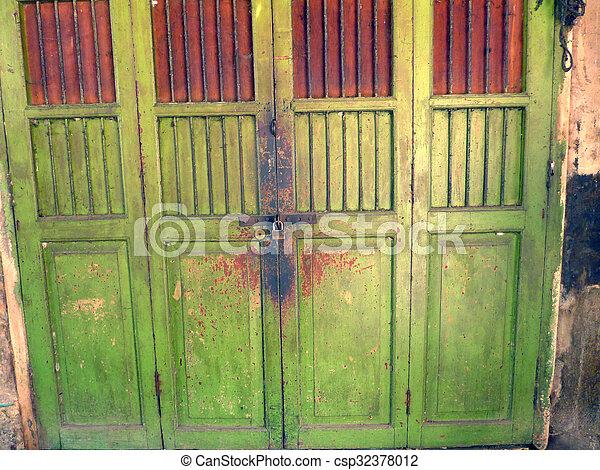 Thai Old Front Doors