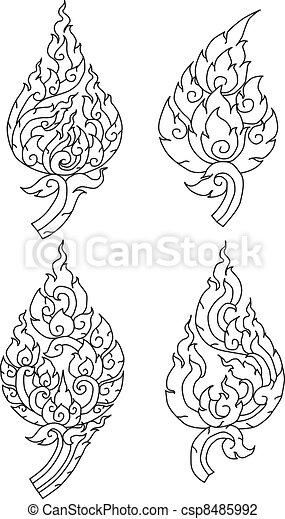 Thai pattern graphic - csp8485992