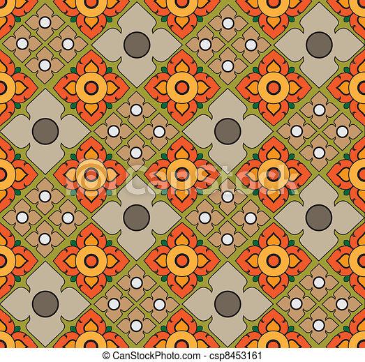Thai pattern graphic - csp8453161