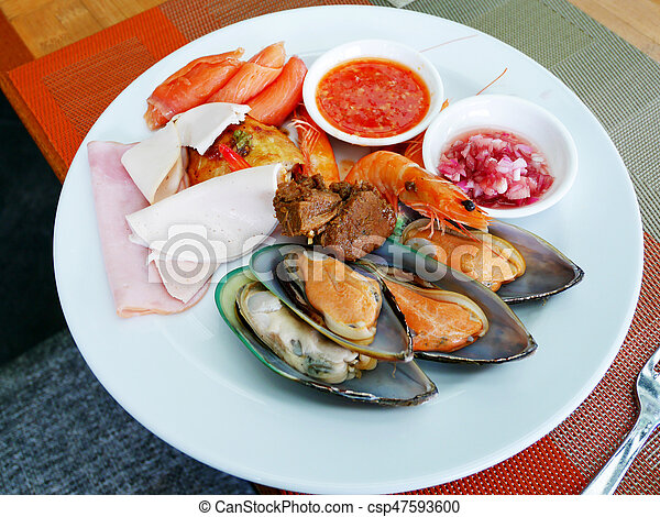 Pleasant Thai People Serve Cuisine On Plate At Food Buffet Service In Restaurant Download Free Architecture Designs Grimeyleaguecom