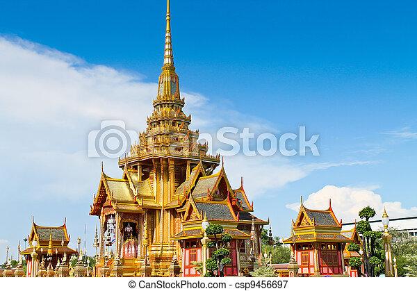 Thai royal funeral in bangkok Thailand   - csp9456697