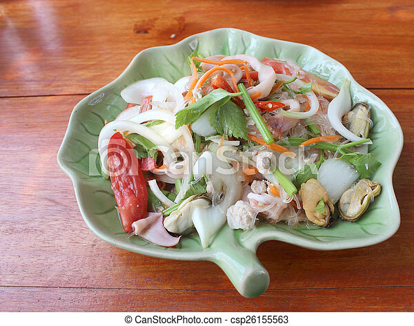 Thai spicy and sour seafood salad - csp26155563