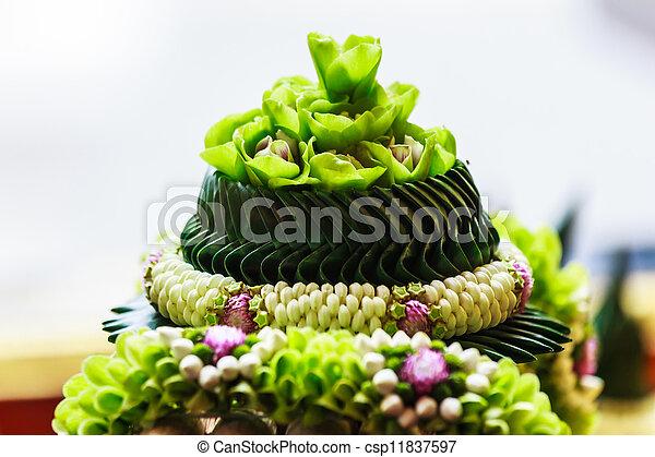 thai style garland flower - csp11837597