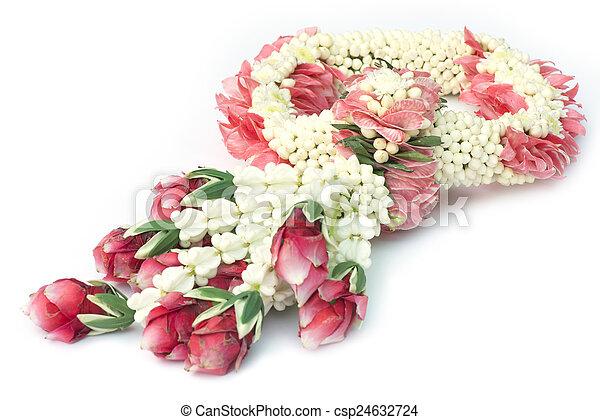 Thai traditional flower garland. - csp24632724