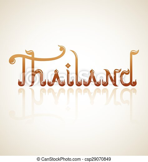 Thailand alphabet design - csp29070849