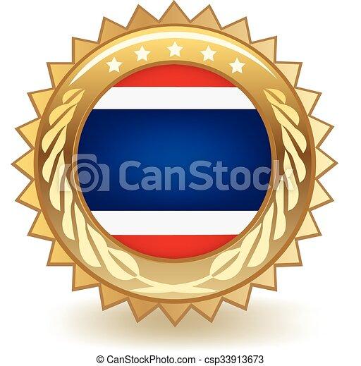 Thailand Badge - csp33913673