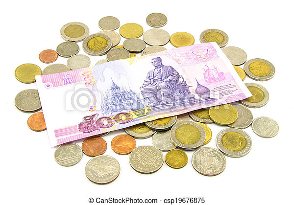 Thailand banknotes and coins - csp19676875