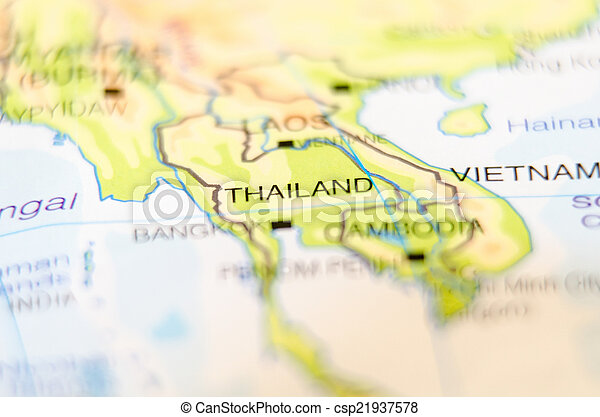 thailand country on map - csp21937578