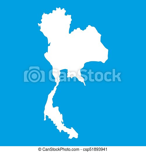 Thailand map icon white isolated on blue background drawing thailand map icon white csp51893941 gumiabroncs Gallery