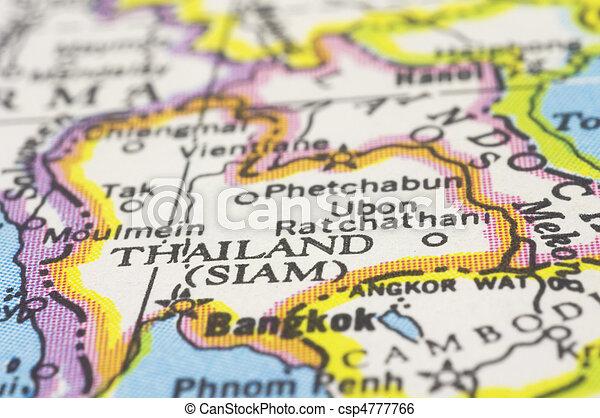 thailand on map - csp4777766