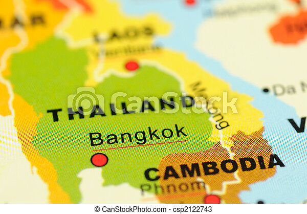 Thailand on map - csp2122743