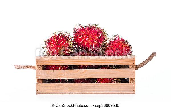 Thailand rambutan fruit - csp38689538