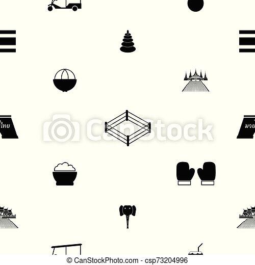 thailand seamless pattern background icon. - csp73204996