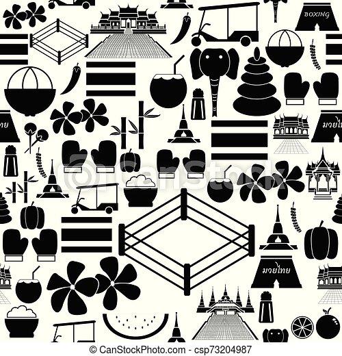 thailand seamless pattern background icon. - csp73204987