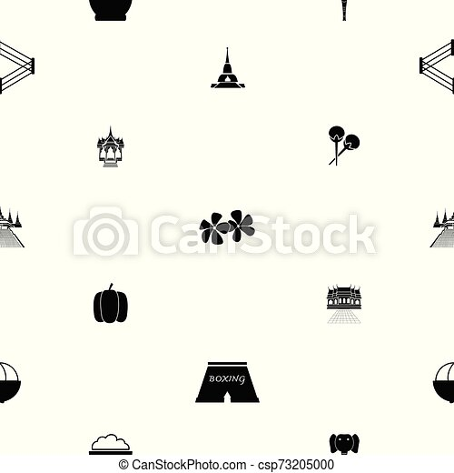 thailand seamless pattern background icon. - csp73205000