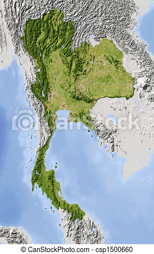 Thailand Topographic Map.Thailand Shaded Relief Map Thailand Shaded Relief Map