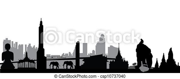 Thailand skyline - csp10737040