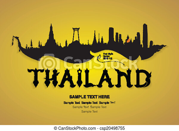 thailand travel design vector - csp20498755