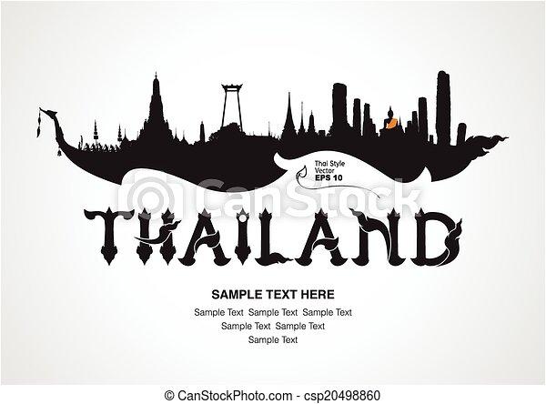 thailand travel, vector illustratio - csp20498860