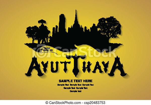 thailand travel, vector illustratio - csp20483753