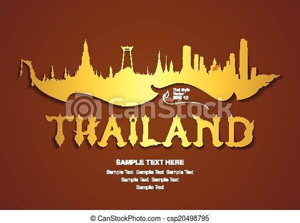 thailand travel, vector illustratio - csp20498795