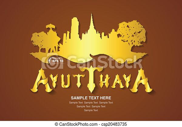 thailand travel, vector illustratio - csp20483735