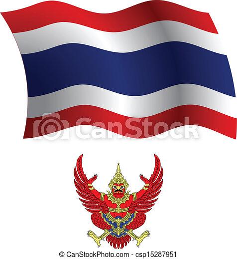 thailand wavy flag and coat - csp15287951