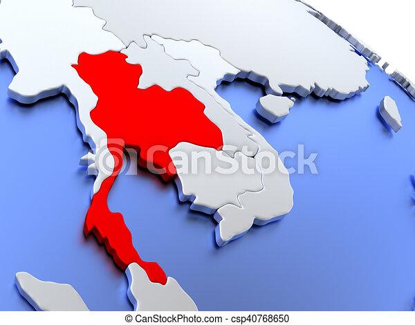 Thailand Karte Welt.Thailand Weltkarte