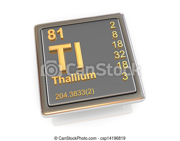 Thallium. Chemical element. - csp14196819
