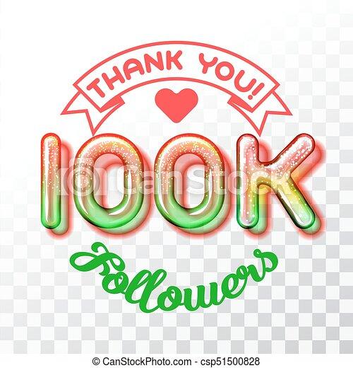 100k social followers success message poster template