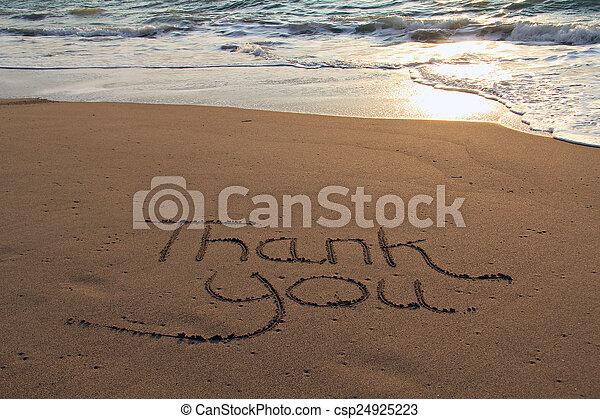 Thank you beach - csp24925223