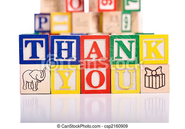 Thank You Blocks - csp2160909