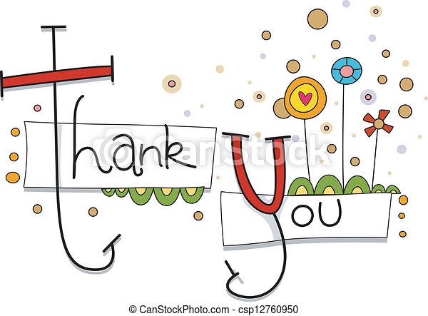 Thank You Card - csp12760950