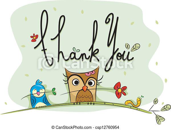 Thank You Card - csp12760954