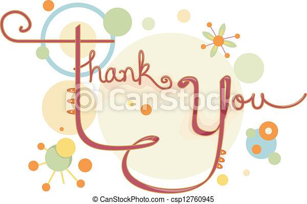 Thank You Card - csp12760945