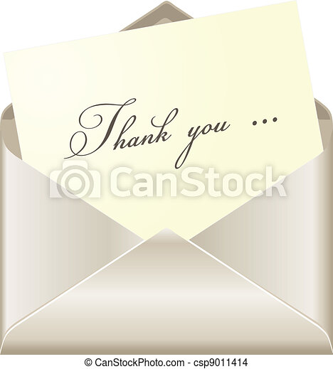 Thank you card - csp9011414
