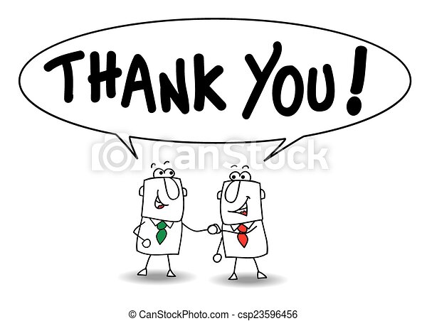 Joe and ben the businessmen say thank you they are clipart thank you csp23596456 voltagebd Gallery