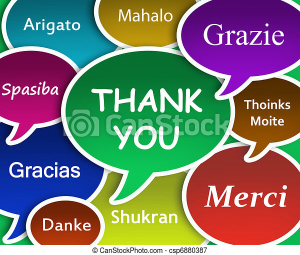 thank you cloud illustration of thank you in many languages rh canstockphoto com Thank You in Different Languages List thank you in multiple languages clip art