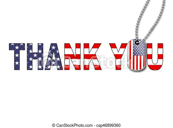 Thank you dog tag - csp46899360