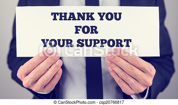 Thank you for your support - csp20766817