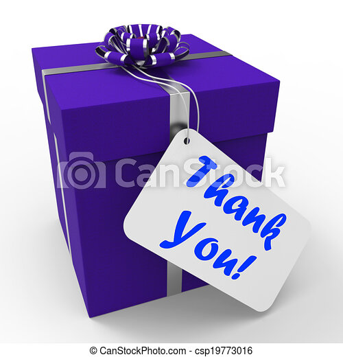 Thank You Gift Means Grateful And Appreciative Thank You Gift