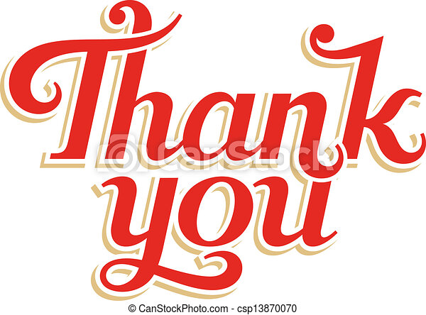 Thank You hand lettering - csp13870070