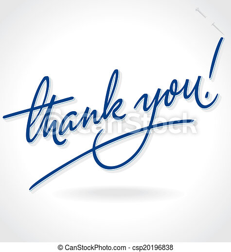 THANK YOU hand lettering (vector) - csp20196838