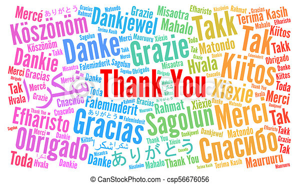 thank you illustration word cloud in different languages rh canstockphoto com thank you in many languages clipart Thank You in Different Languages Clip Art