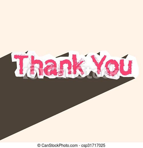 Thank You - csp31717025